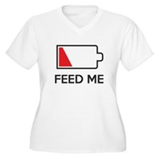 Feed Me Low Power Battery Plus Size T-Shirt