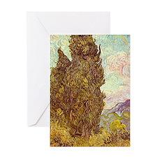 van gogh tree Greeting Cards