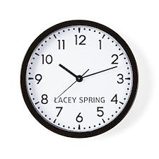 Lacey Spring Newsroom Wall Clock