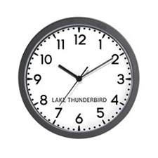 Lake Thunderbird Newsroom Wall Clock