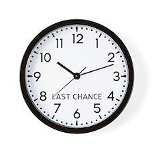 Last Chance Newsroom Wall Clock