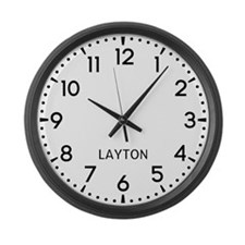 Layton Newsroom Large Wall Clock