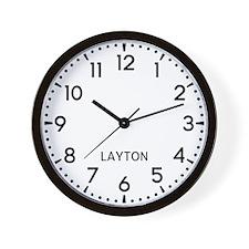 Layton Newsroom Wall Clock
