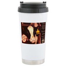 Calf Slaughter GO VEGAN Travel Mug