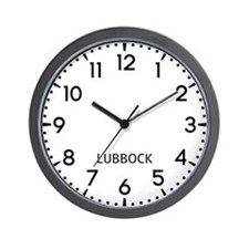 Lubbock Newsroom Wall Clock