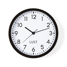 Lust Newsroom Wall Clock