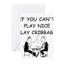 CRIBBAGE14 Greeting Cards