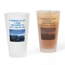 CRIBBAGE8 Drinking Glass