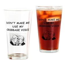 CRIBBAGE7 Drinking Glass