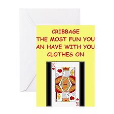 CRIBBAGE5 Greeting Cards