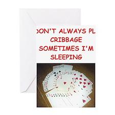CRIBBAGE4 Greeting Cards