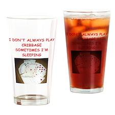CRIBBAGE4 Drinking Glass
