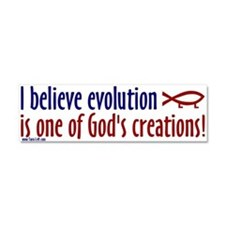 Cute God created Car Magnet 10 x 3
