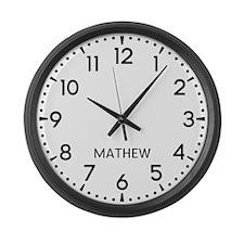 Mathew Newsroom Large Wall Clock