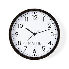 Mattie Newsroom Wall Clock