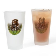 Cow And Calf Drinking Glass