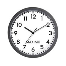 Maximo Newsroom Wall Clock