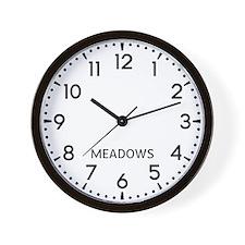 Meadows Newsroom Wall Clock