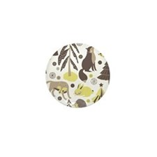 Woodland Animals Mini Button
