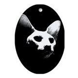 Hairless cat Oval Ornament