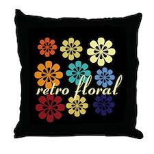 Custom Retro Floral Vintage Throw Pillow