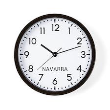 Navarra Newsroom Wall Clock