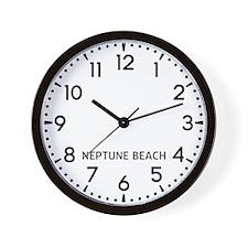 Neptune Beach Newsroom Wall Clock