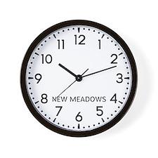 New Meadows Newsroom Wall Clock