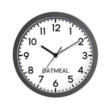 Oatmeal Newsroom Wall Clock