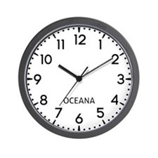 Oceana Newsroom Wall Clock