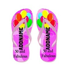 Fabulous 50th Flip Flops