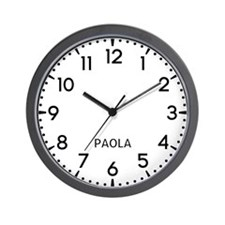 Paola Newsroom Wall Clock