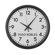 Paso Robles Newsroom Large Wall Clock