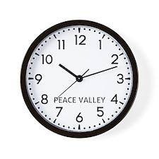 Peace Valley Newsroom Wall Clock