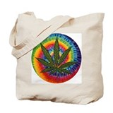 tie-dye Pot Leaf Tote Bag
