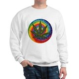 tie-dye Pot Leaf Sweatshirt