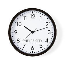 Phelps City Newsroom Wall Clock