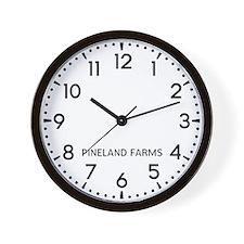 Pineland Farms Newsroom Wall Clock