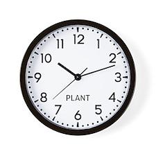 Plant Newsroom Wall Clock