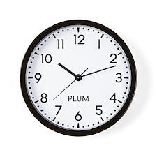 Plum Newsroom Wall Clock