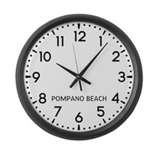 Pompano Beach Newsroom Large Wall Clock