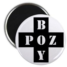 POZ BOY BLACK AND WHITE MAGNET