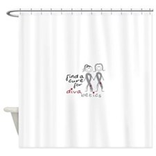 Find A Cure For Divabetics Shower Curtain
