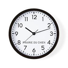 Prairie Du Chien Newsroom Wall Clock