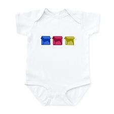 Color Row Border Terrier Baby Bodysuit