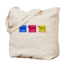 Color Row Border Terrier Tote Bag