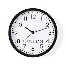 Purple Sage Newsroom Wall Clock