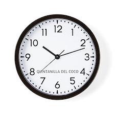 Quintanilla Del Coco Newsroom Wall Clock