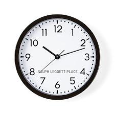 Ralph Leggett Place Newsroom Wall Clock