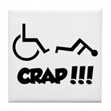 Cute Disability Tile Coaster